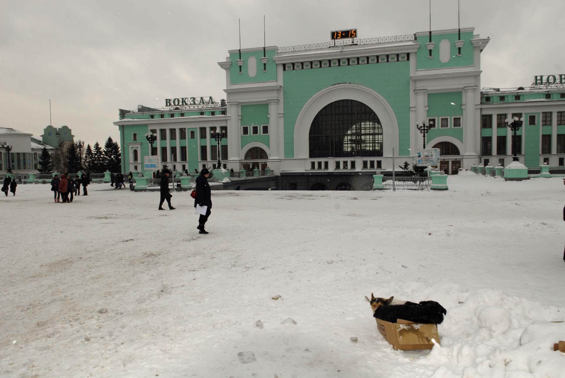 Bahnhofsvorplatz Novosibirsk